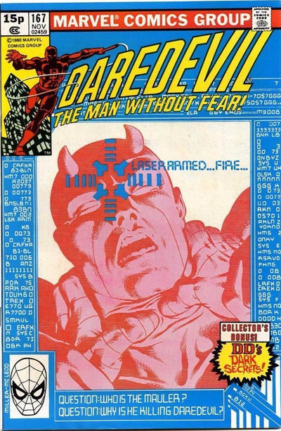 Cover for Daredevil (Marvel, 1964 series) #167 [Direct Edition]