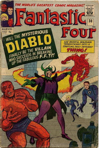 Cover for Fantastic Four (Marvel, 1961 series) #30 [Regular Edition]