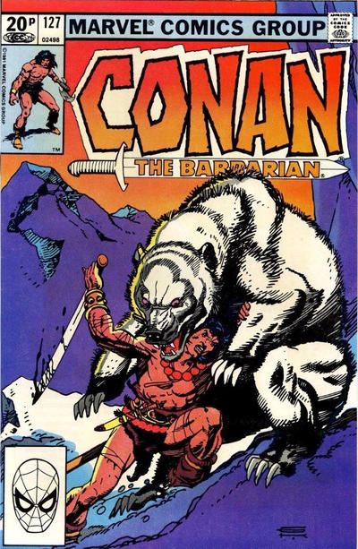 Cover for Conan the Barbarian (Marvel, 1970 series) #127 [Direct Edition]