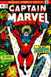 Cover for Captain Marvel (Marvel, 1968 series) #29 [British Price Variant]