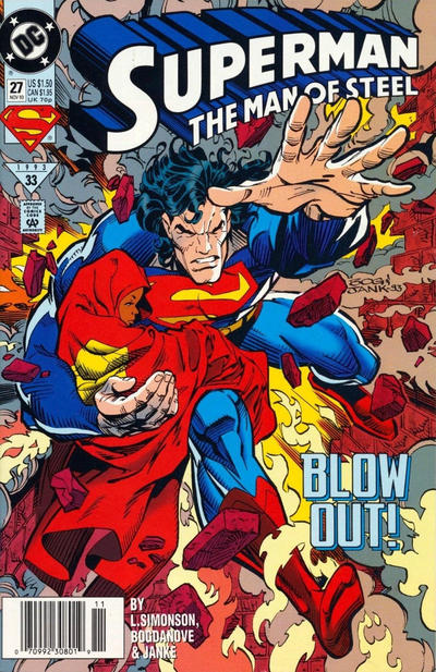 Cover for Superman: The Man of Steel (DC, 1991 series) #27 [Direct Sales]