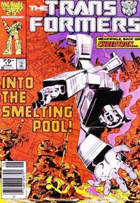 Cover Thumbnail for The Transformers (Marvel, 1984 series) #17 [Newsstand Edition]
