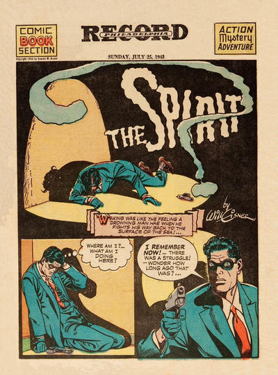 Cover for The Spirit (Register and Tribune Syndicate, 1940 series) #7/25/1943
