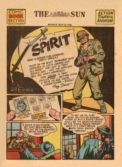 Cover for The Spirit (Register and Tribune Syndicate, 1940 series) #5/23/1943