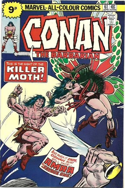 Cover for Conan the Barbarian (Marvel, 1970 series) #61 [25¢ Cover Price]