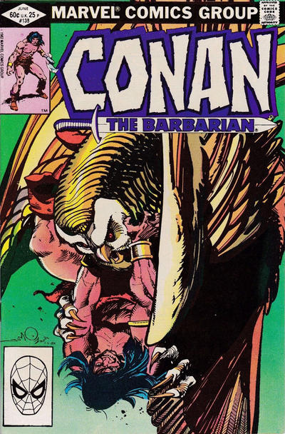 Cover for Conan the Barbarian (Marvel, 1970 series) #135 [Direct Edition]