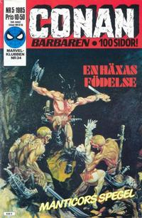 Cover Thumbnail for Conan (Semic, 1984 series) #5/1985