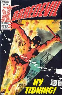 Cover Thumbnail for Daredevil (Semic, 1986 series) #1/1986