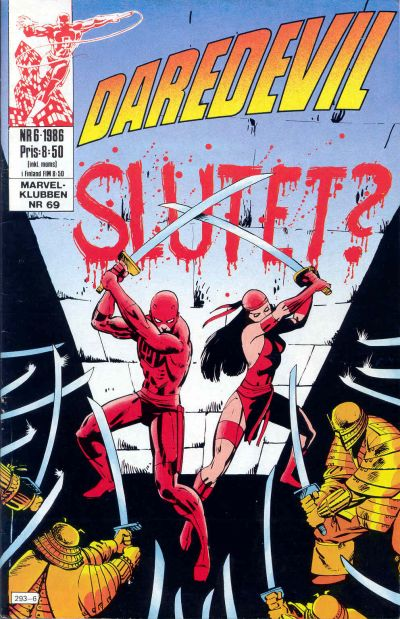 Cover for Daredevil (Semic, 1986 series) #6/1986