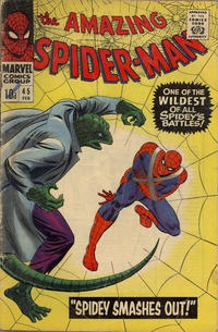 Cover for The Amazing Spider-Man (Marvel, 1963 series) #45 [Regular Edition]
