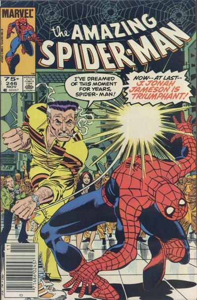 Cover for The Amazing Spider-Man (Marvel, 1963 series) #246 [Direct Edition]