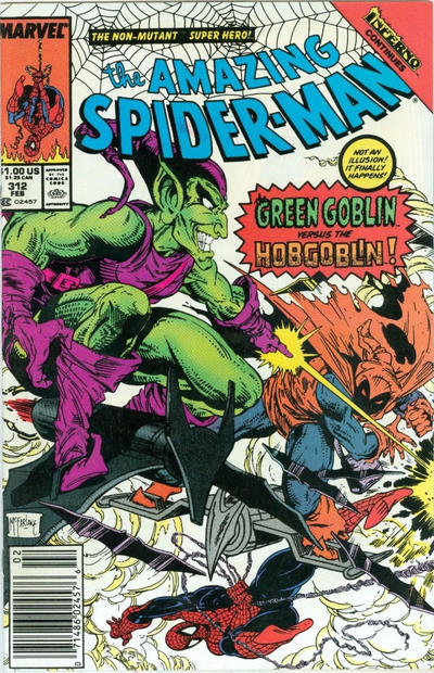 Cover for The Amazing Spider-Man (Marvel, 1963 series) #312 [Direct Edition]