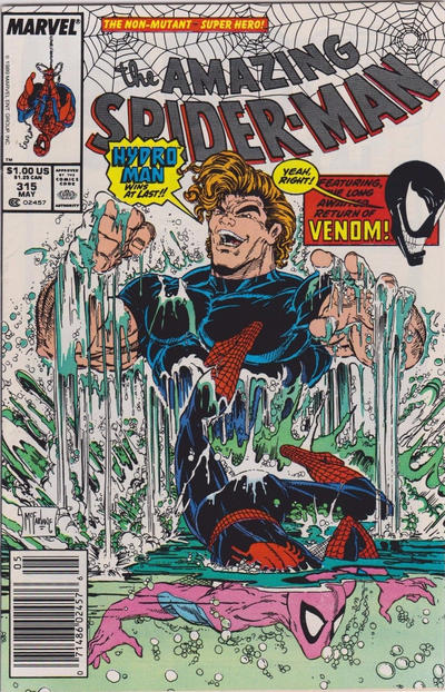 Cover for The Amazing Spider-Man (Marvel, 1963 series) #315 [Direct Edition]