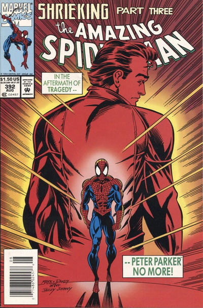 Cover for The Amazing Spider-Man (Marvel, 1963 series) #392 [Direct Edition]
