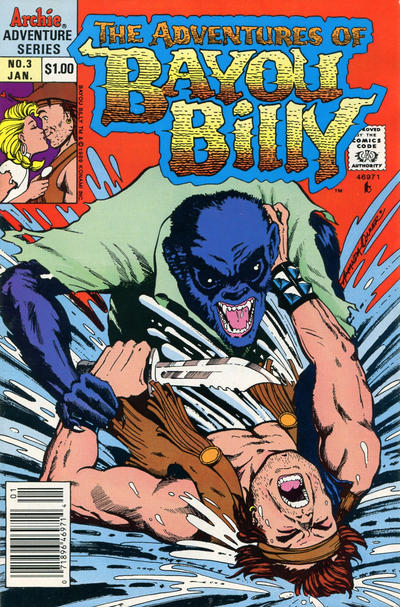Cover for The Adventures of Bayou Billy (Archie, 1989 series) #3 [Direct]