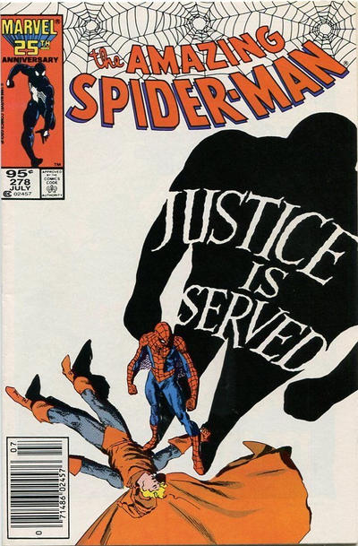 Cover for The Amazing Spider-Man (Marvel, 1963 series) #278 [Direct Edition]