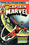 Cover for Captain Marvel (Marvel, 1968 series) #37 [British Price Variant]