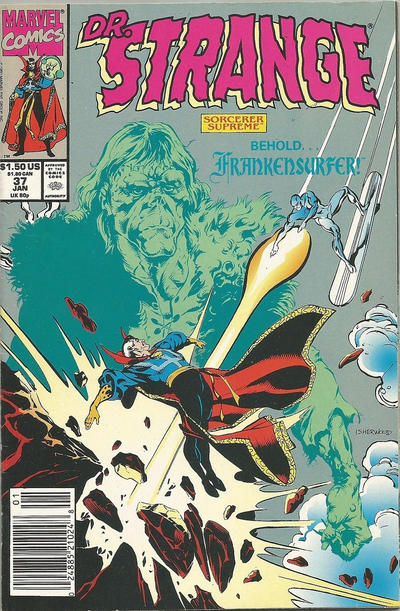 Cover for Doctor Strange, Sorcerer Supreme (Marvel, 1988 series) #37 [Direct Edition]