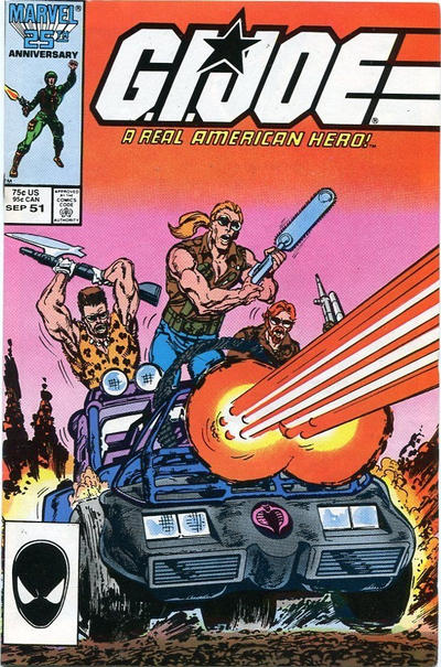 Cover for G.I. Joe, A Real American Hero (Marvel, 1982 series) #51 [Direct Edition]