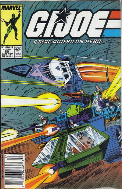 Cover for G.I. Joe, A Real American Hero (Marvel, 1982 series) #80 [Direct Edition]