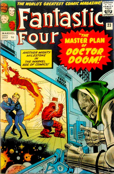 Cover for Fantastic Four (Marvel, 1961 series) #23 [Regular Edition]