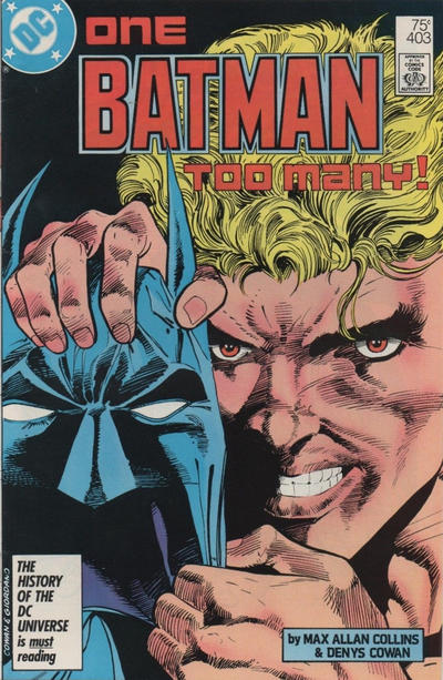 Cover for Batman (DC, 1940 series) #403 [Newsstand Variant]