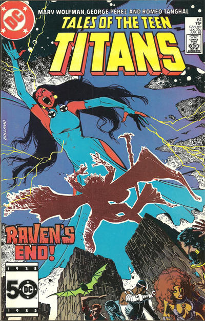 Cover for Tales of the Teen Titans (DC, 1984 series) #64 [Direct]