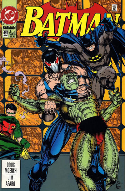 Cover for Batman (DC, 1940 series) #489 [Newsstand]