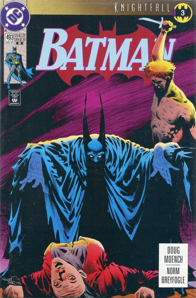 Cover for Batman (DC, 1940 series) #493