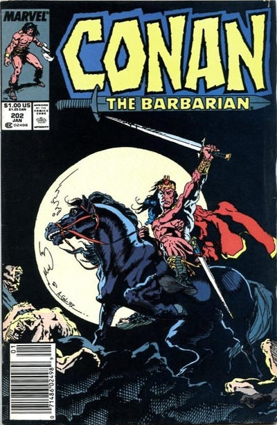 Cover for Conan the Barbarian (Marvel, 1970 series) #202 [Direct Edition]