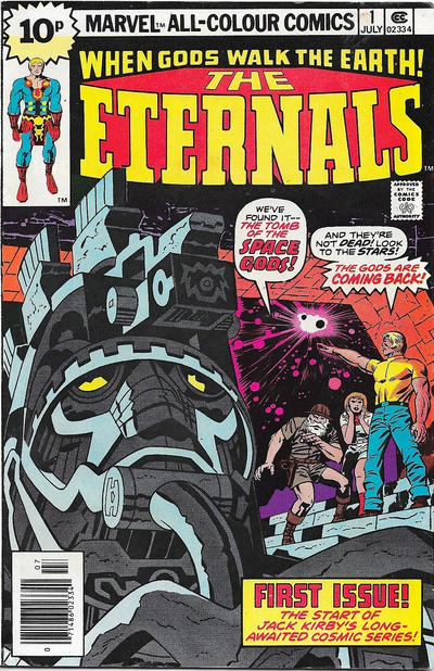 Cover for The Eternals (Marvel, 1976 series) #1 [25¢ Cover Price]