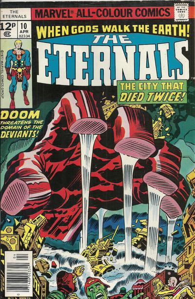 Cover for The Eternals (Marvel, 1976 series) #10 [Whitman Edition]