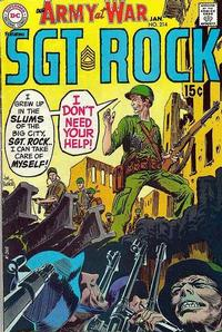 Cover Thumbnail for Our Army at War (DC, 1952 series) #214