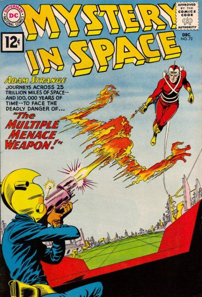 Cover for Mystery in Space (DC, 1951 series) #72