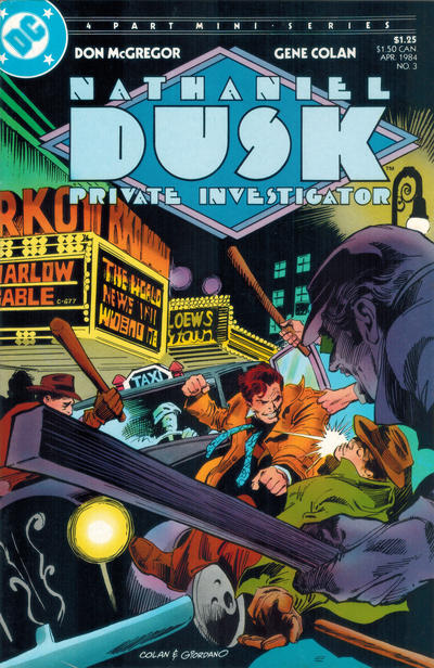 Cover for Nathaniel Dusk (1984 series) #3