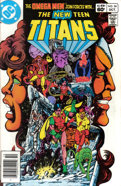 Cover for The New Teen Titans (1980 series) #24