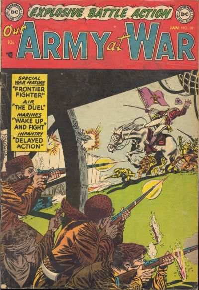 Cover for Our Army at War (DC, 1952 series) #18