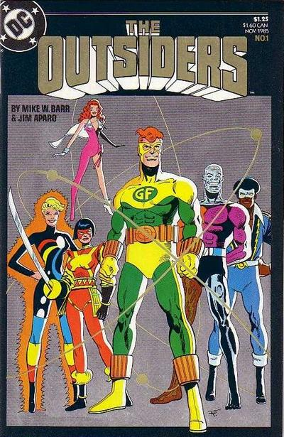 Cover for The Outsiders (DC, 1985 series) #1