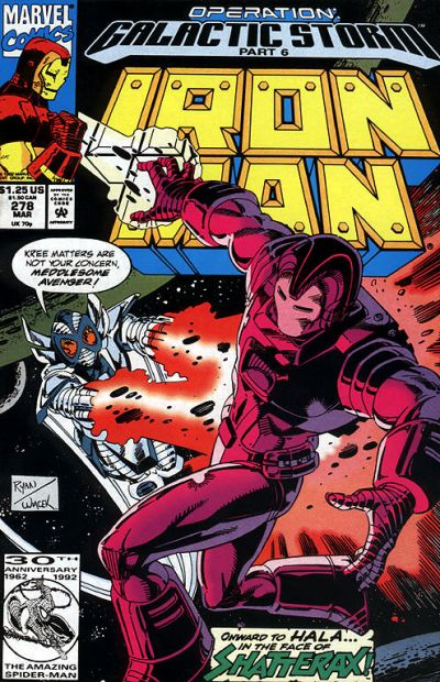 Cover for Iron Man (Marvel, 1968 series) #278
