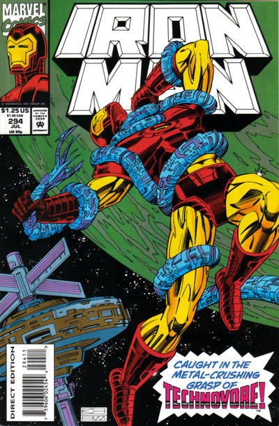 Cover for Iron Man (Marvel, 1968 series) #294