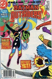 Cover for Batman and the Outsiders (DC, 1983 series) #23 [Newsstand]