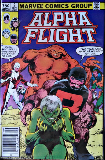 Cover for Alpha Flight (Marvel, 1983 series) #2 [Newsstand]