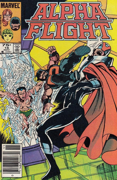 Cover for Alpha Flight (Marvel, 1983 series) #16 [Newsstand Edition]