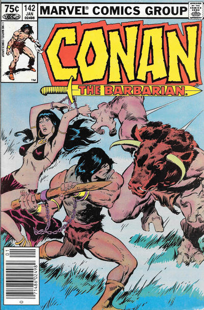 Cover for Conan the Barbarian (Marvel, 1970 series) #142 [Newsstand Edition]