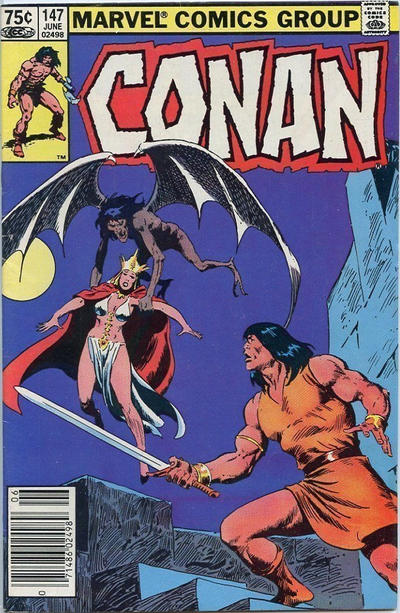 Cover for Conan the Barbarian (Marvel, 1970 series) #147 [Newsstand Edition]