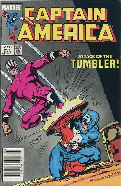 Cover for Captain America (Marvel, 1968 series) #291 [Direct Edition]