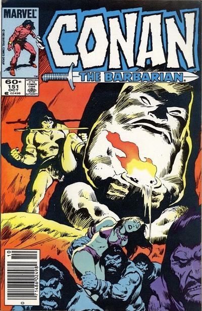 Cover for Conan the Barbarian (Marvel, 1970 series) #151 [Direct Edition]
