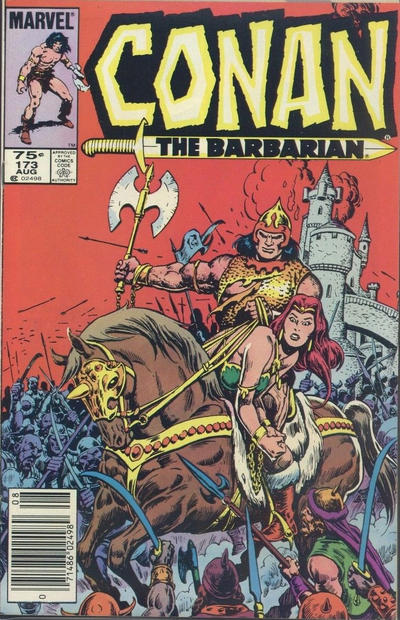 Cover for Conan the Barbarian (Marvel, 1970 series) #173 [Direct Edition]