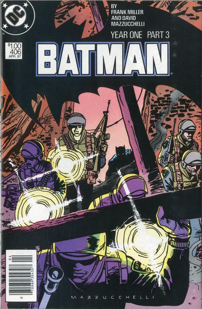Cover for Batman (DC, 1940 series) #406 [Newsstand Edition]