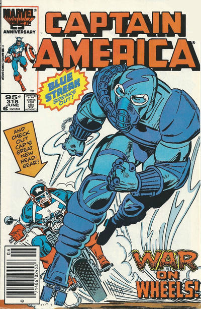 Cover for Captain America (Marvel, 1968 series) #318 [Direct Edition]